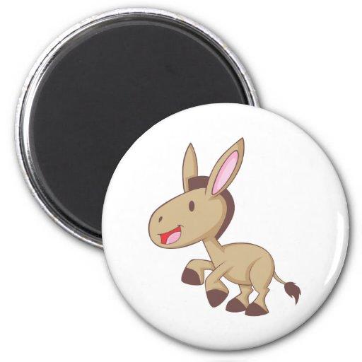 Happy Donkey 2 Inch Round Magnet