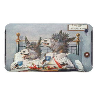 Happy Donkeys in Bed - Funny Vintage Art Barely There iPod Cover