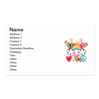 Happy Doodles Double-Sided Standard Business Cards (Pack Of 100)