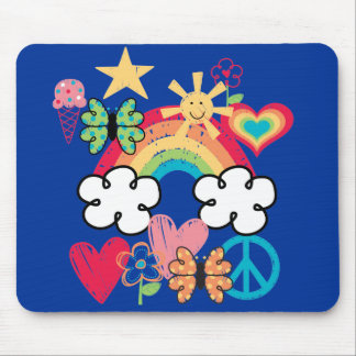 Happy Doodles Mouse Pad