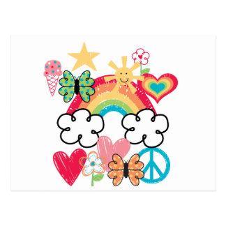 Happy Doodles Postcard
