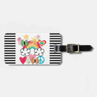 Happy Doodles Tag For Luggage