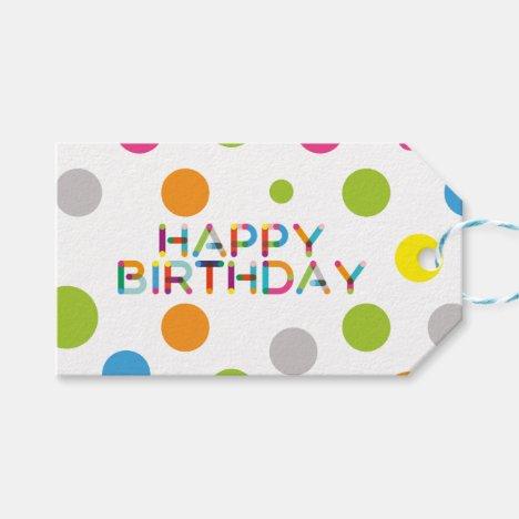 Happy Dots Happy Birthday Gift Tags
