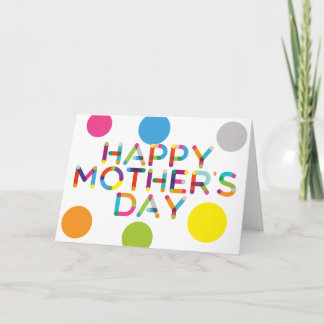 Happy Dots Mother's Day Card