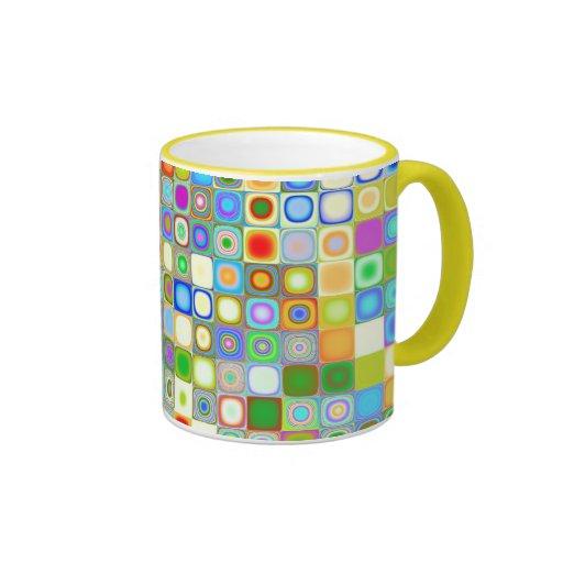 Happy Dots Ringer Coffee Mug