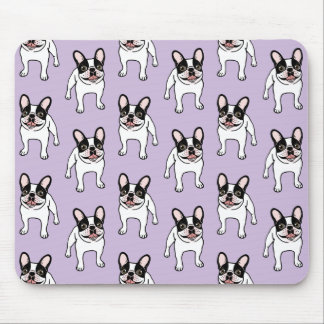 Happy Double Hooded Pied Frenchie Mouse Pad