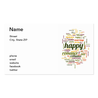 Happy Double-Sided Standard Business Cards (Pack Of 100)