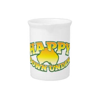 Happy Down under Drink Pitcher