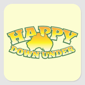 Happy Down under Square Sticker