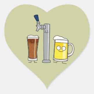 Happy Draft Beers Heart Sticker