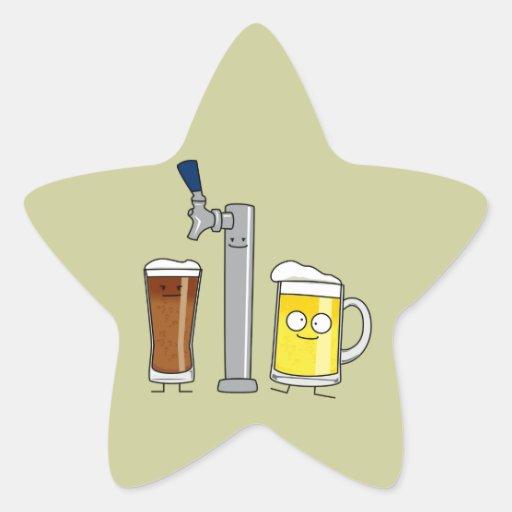 Happy Draft Beers Star Sticker