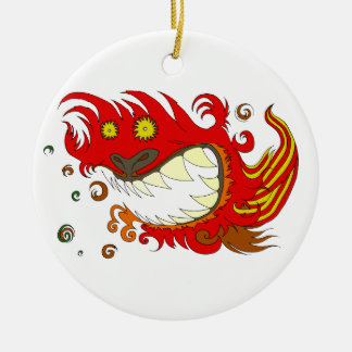 Happy Dragon Ceramic Ornament