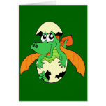 Happy Dragon Hatchling Greeting Cards