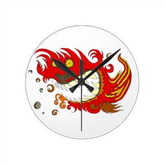 Happy Dragon Round Clock