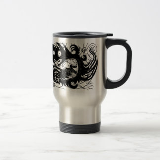 Happy dragon (Silhouette) Travel Mug