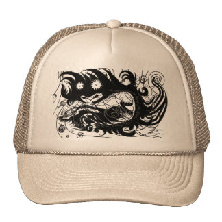 Happy Dragon (Silhouette) Trucker Hat