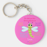"Happy Dragonfly ""Love"" Keychain"