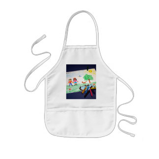 Happy drawing kids' apron