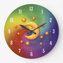 Happy dreaming moon Decorative Clock