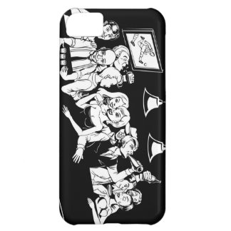 Happy drinkers at the bar iPhone 5C cases