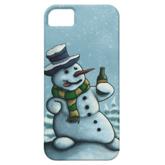 happy drinking snowman iPhone SE/5/5s case