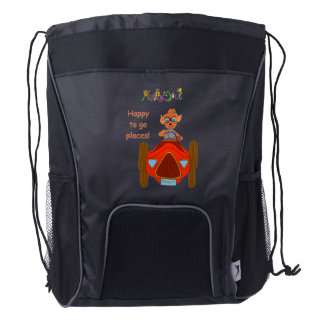 Happy Driving by The Happy Juul Company Drawstring Backpack