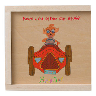 Happy Driving by The Happy Juul Company Wooden Keepsake Box