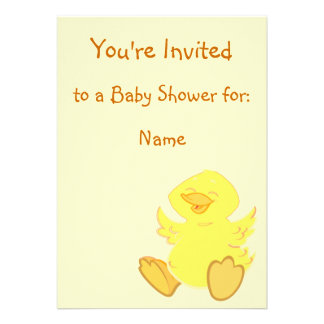 Happy Duck Baby Shower Invitations