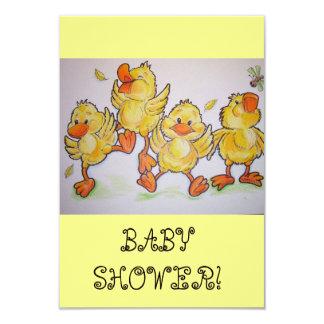 happy duckies baby shower invitation