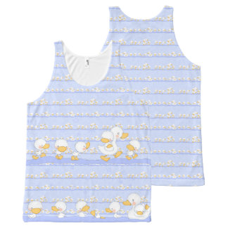 Happy Ducklings All-Over Print Tank Top