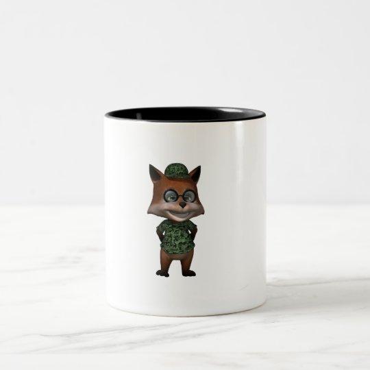 happy dude Two-Tone coffee mug
