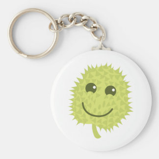 Happy Durian Basic Round Button Keychain