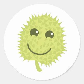 Happy Durian Classic Round Sticker