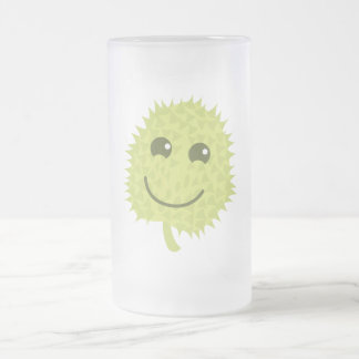 Happy Durian Frosted Glass Beer Mug