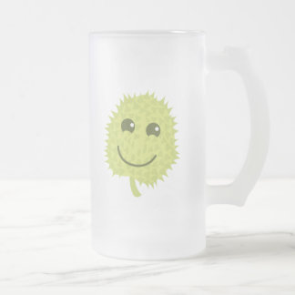 Happy Durian fruit Frosted Glass Beer Mug