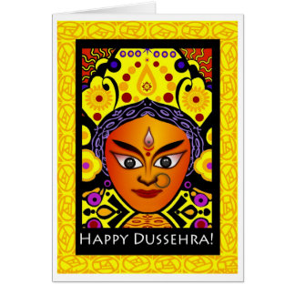 Happy Dussehra, Goddess Durga Greeting Card