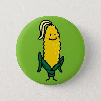 Happy Ear Corn on the Cob Pinback Button