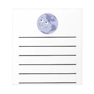Happy Earth Blue Notepad