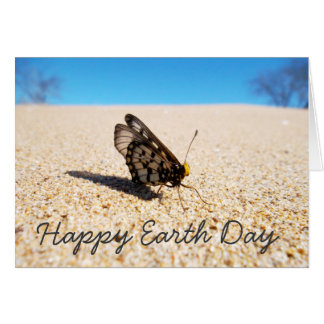 Happy Earth Day Beach Butterfly Card