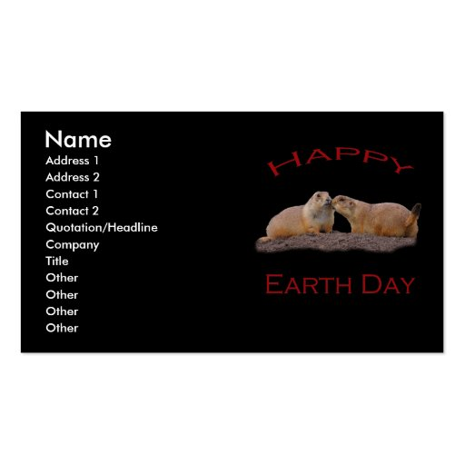 Happy Earth Day Business Card