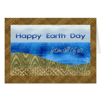 Happy Earth Day from Us All, Textured Layer Look Greeting Card