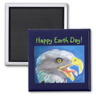 Happy Earth Day Gift 2 Inch Square Magnet