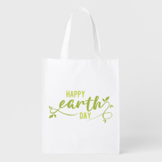Happy Earth Day Grocery Bag