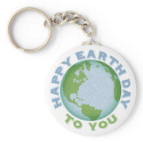 Happy Earth Day Keychain