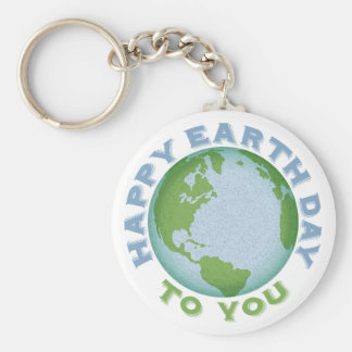 Happy Earth Day Keychain
