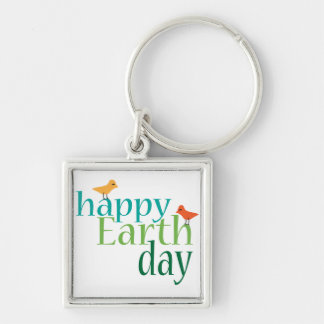 Happy Earth Day Keychains