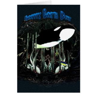 Happy Earth Day, Orca, Killer Whale Card
