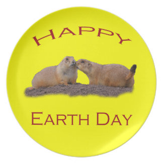 Happy Earth Day Plate