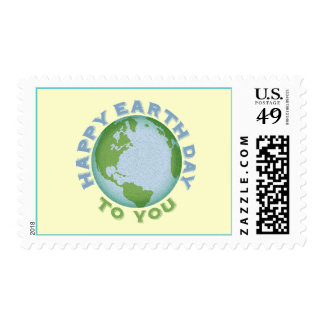Happy Earth Day Postage