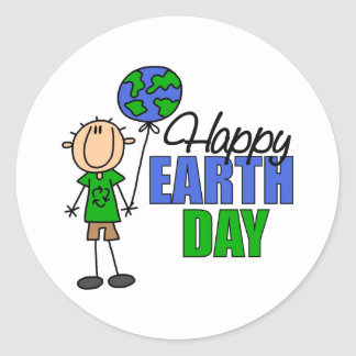 Happy Earth Day Stickers